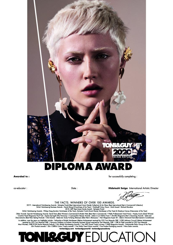 TONI&GUY|即戦力の証として終了ディプロマが取得でき、早期スタイリストデビューを目指せます。